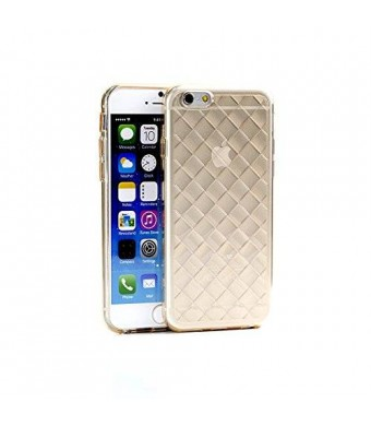 iPhone 6/6s Case WaKase [Knit] Clear Transparent Luxury Shiny Sparkling Trendy Gold Case - Crystal Tea