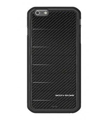 Body Glove Rise Phone Case for Apple iPhone 6 Plus/6s Plus, Black Carbon Fiber