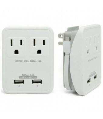 RND Compact Power Station 2.4 Amp Dual USB Ports