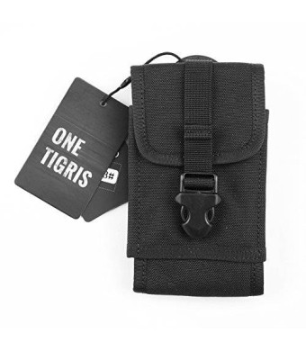 OneTigris MOLLE Tactical Smartphone Pouch for iPhone6 iPhone6 Plus and Galaxy Note 4, Blackberry 8300, HTC One Max