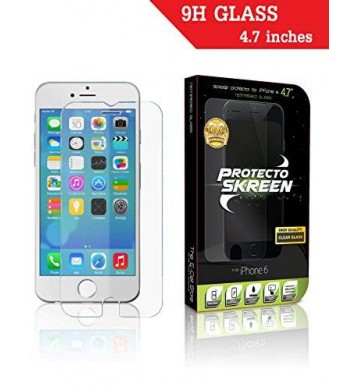 """The E-Cell Store iPhone 6/6s Screen Protector-PROTECTO SKREEN-Tempered Glass-Great Low Price-Best Highest Quality Product For Your 4.7"""" Apple iPhone"""