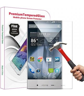 PThink 2.5D Round Edge 0.3mm Ultra Slim Nano Tempered Glass Screen Protector for Sharp Aquos Crystal with 9H Hardness