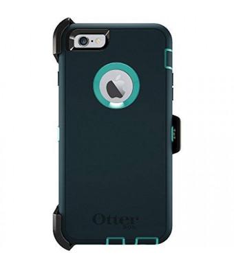 """OtterBox Defender Series iPhone 6 Plus ONLY Case (5.5"""" Version), Retail Packaging, OASIS (Light Teal/Dark Jade)"""