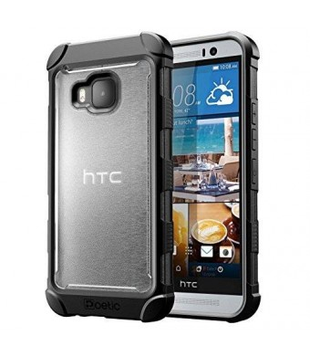 HTC One M9 Case - Poetic [Affinity Series] - [TPU Grip Bumper] [Corner Protection] Protective Case for HTC One M9 (2015) Frost Clear