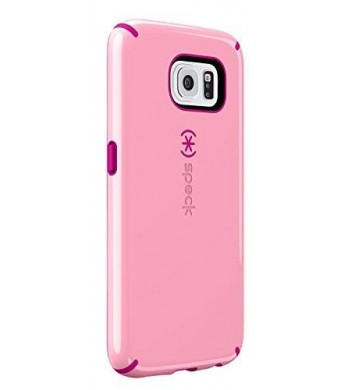 Speck Products CandyShell Case for Samsung Galaxy S6 - Carrying Case - Frustration-Free Packaging - Carnation Pink/Lipstick Pink
