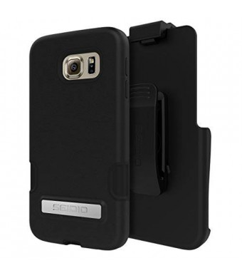 Seidio Cell Phone Case for Samsung Galaxy S6 - Retail Packaging - Black