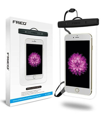 FRiEQ Universal Waterproof Case with Completely Transparent Design for Outdoor Activities - Perfect for Boating