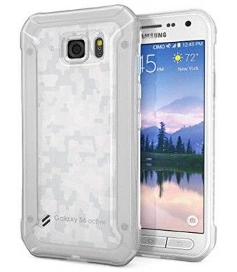 Galaxy S6 Active Case, Cimo [Grip] Premium Slim TPU Flexible Soft Case for Samsung Galaxy S6 Active (2015) - Frosted Clear