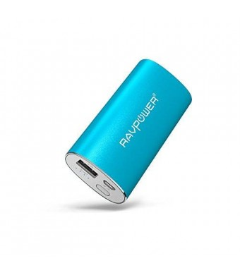 RAVPower 6700mAh Portable Charger (2.4A Output and 2A Input) External Battery Pack iSmart Technology for Smartphones Tablets and more - Blue