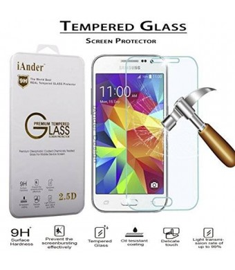 iAnder Premium Tempered Glass Screen Protector for Samsung Galaxy Core Prime - Screen Protector for Samsung Galaxy Core Prime