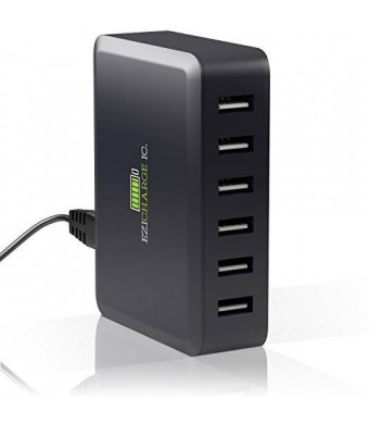 Ezisoul Multi Port USB Charger Provides High Power 60W