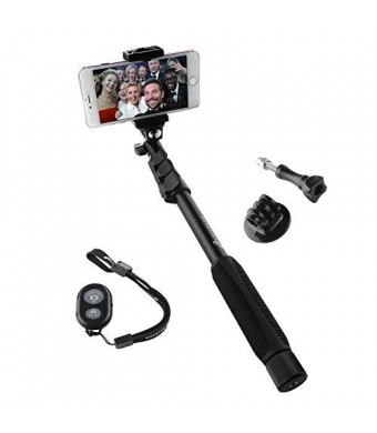 Arespark Selfie Stick Selfie Monopod for Cellphones and Gopro, Extends to 50 Inches