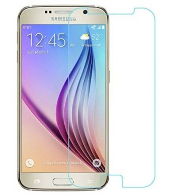 [Samsung Galaxy S6 Tempered-Glass] iXCC  High Definition (HD) Round Angle Hard Invisibleshield Screen Glass Protector for Samsung Galaxy S6