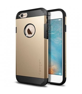 iPhone 6s Case, Spigen [Extreme Protection] Tough Armor Case for Apple iPhone 6 / iPhone 6s - Champagne Gold