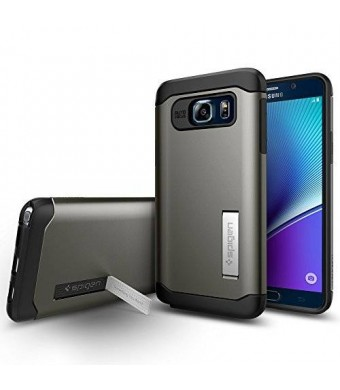 Spigen Slim Armor Galaxy Note 5 Case with Air Cushion Technology and Hybrid Drop Protection for Galaxy Note 5 2015 - Gunmetal