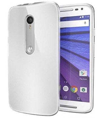 Motorola Moto G (3rd Generation) Case Cimo [Grip] Premium Slim TPU Flexible Soft Case for Motorola Moto G G3 (3rd Gen, 2015) - Frosted Clear