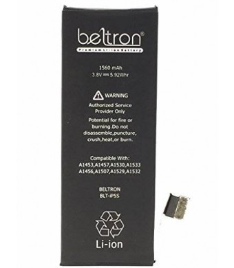New 1560 mAh Replacement Battery for iPhone 5C / 5S - (Compatible with ALL iPhone 5C / 5S Carriers) - BELTRON BLT-IP5S