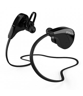 Primed4U [Novelty Series Bluetooth Wireless Headphones and Headsets] In Ear Stereo Sport Earphones with Built-in Mic [iPhone Android,Black]