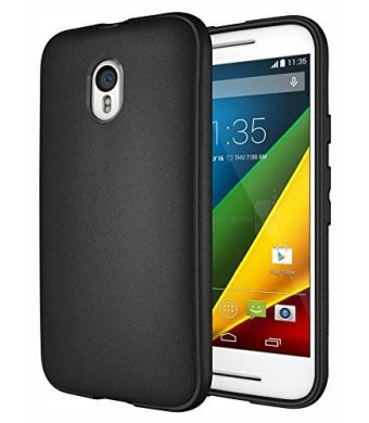 Moto G 3rd Gen Case, Diztronic Full Matte Slim-Fit Flexible TPU Case for Motorola Moto G (3rd Generation) 2015 - Black (MG3-FM-BLK)