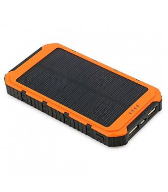 X-Dragon 10000mAh Dual USB Solar Power Bank for iPhone 6 Plus