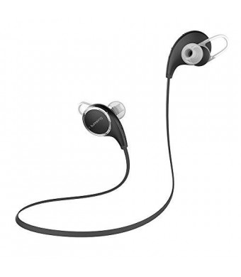 Lumsing Universal-Fit Bluetooth 4.1 Stereo Wireless Noise Isolating In-Ear Headphones with Microphone