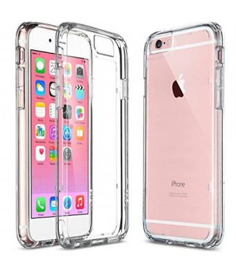 ULAK iPhone 6 Case, [Perfect Fit] Clear Slim [Transparent] Drop Protection with Shock Absorbent [Hybrid PC and TPU Case] Cover for Apple iPhone 6s / 6 - [Crystal Clear]