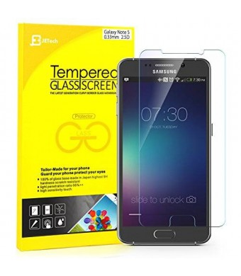 Note 5 Screen Protector, JETech Premium Tempered Glass Screen Protector Film for Samsung Galaxy Note 5
