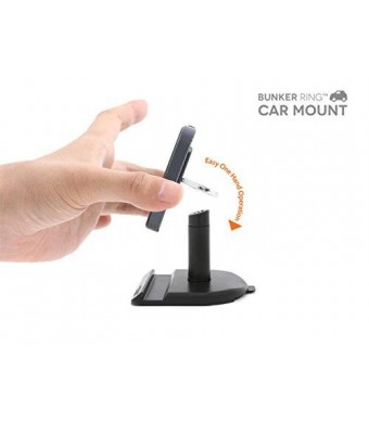 """i&PLUS KOREA Car Mount for """" iandPLUS BUNKER RING Essentials """" Cell Phone and Tablets Anti Drop Ring (Bunker Ring Car Mount)"""