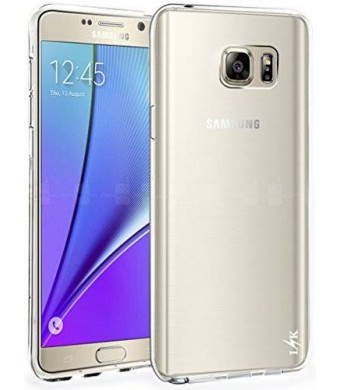 Note 5 Case, LK Ultra [Slim Thin] Scratch Resistant TPU Gel Rubber Soft Skin Silicone Protective Case Cover for Samsung Galaxy Note 5 (Clear)