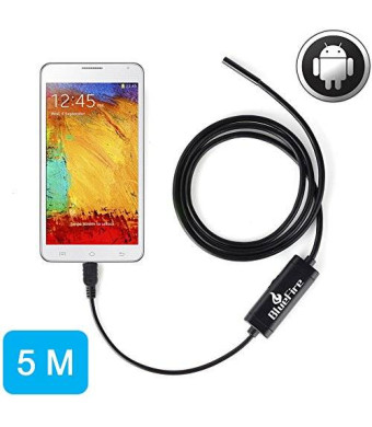 BlueFire Android OTG Endoscope 7mm Mini Waterproof Borescope Inspection Tube Pipe Camera 5M for Samsung Galaxy S5 S6 Note 2 3 4
