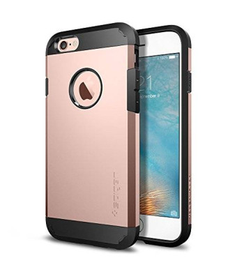iPhone 6s Case, Spigen [Extreme Protection] Tough Armor Case for Apple iPhone 6 / iPhone 6s - Rose Gold