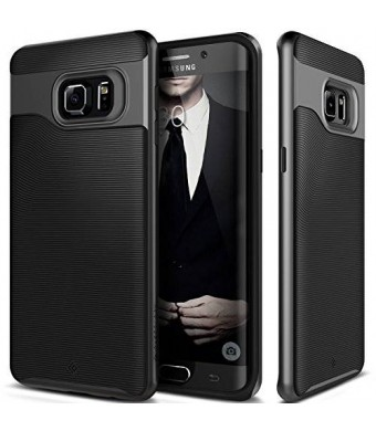 Galaxy S6 Edge Plus case, Caseology [Wavelength Series] [Black] Textured Pattern Grip Cover [Shock Proof] for Samsung Galaxy S6 Edge Plus