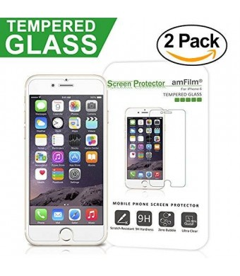 amFilm iPhone 6S Glass Screen Protector (2-Pack)