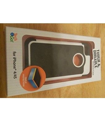 Tech * Go! Tough and Durable Slimline iPhone 4/4s Cellphone Case