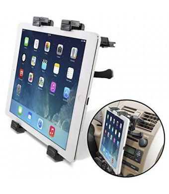 [Lifetime Warranty] Okra Universal Tablet Air Vent Car Mount Holder with 360° Rotating swivel compatible w/ Apple iPad