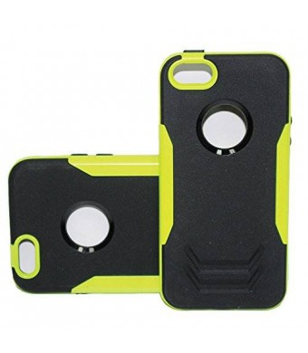 Lyte Case Iron Man Rugged Rubber Hybrid Case for I Phone 6 (Black/Lime Green)