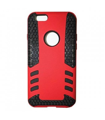 Lyte Case The rocket 2 in 1 slipproof and shockproof case for iPhone 6 (4.7) Dual Protection, Power Grip Technology Red