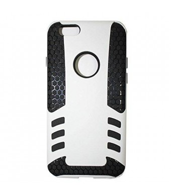 Lyte Case The rocket 2 in 1 slipproof and shockproof case for iPhone 6 (4.7) Dual Protection, Power Grip Technology (White)