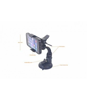 Philip Shaw GM Grip Easy Universal Windshield Dashboard Car Mount Holder Cradle for iPhone 6S