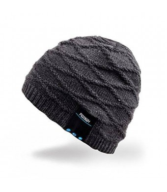 MyDeal Products Mydeal Winter Washable Bluetooth Music Beanie Warm Soft Knitted Trendy Short Skully Hat Cap w