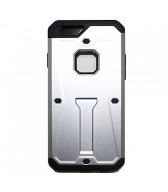 Lyte Case Tank Armor I Phone 6 case, Dual layer Protection,Built in Kick stand Life Proof (Silver)