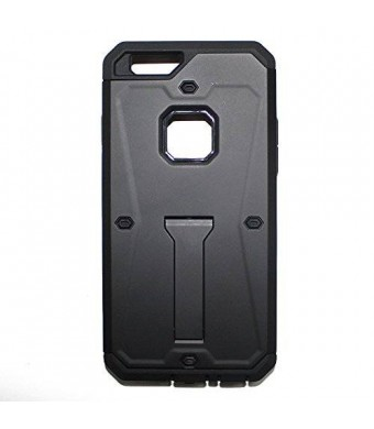 Lyte Case Tank Armor I Phone 6 case, Dual layer Protection,Built in Kick stand Life Proof (Black)