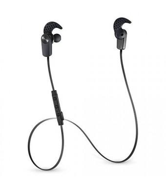 Photive EB200 Wireless Bluetooth Earbuds. Secure fit Sweat-Proof Bluetooth Headphones - Black