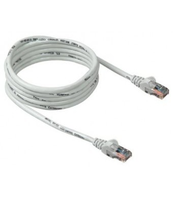 Generic Belkin Cat-5e Snagless Patch Cable (White, 25 Feet)