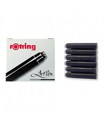 rOtring ArtPen, Replacement Ink Cartridges, 6-pack