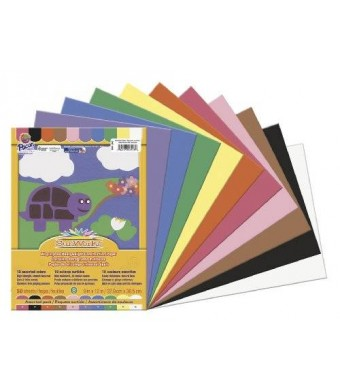 "SunWorks Construction Paper, 9""X12"", Assorted, 50 Sheets"