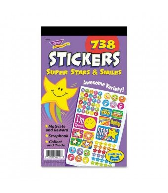 TREND Sticker Assortment Pack, Super Stars and Smiles, 738-Pack (T5010)