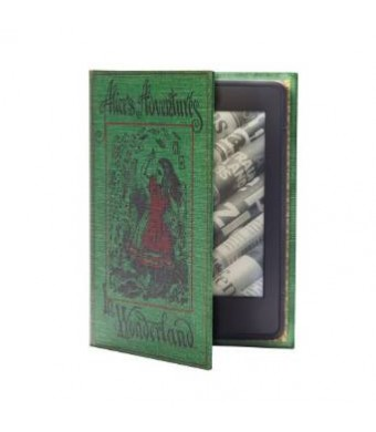 KleverCase Kindle Paperwhite Case (inc all new 2015 version) Book Cover Style - Alice in Wonderland