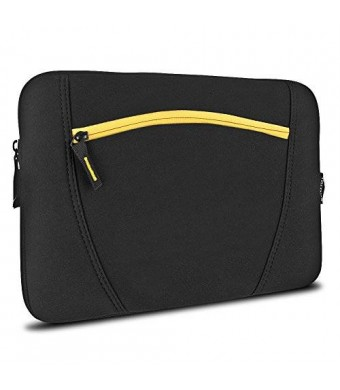 Targus Sleeve with Accessory Pocket for 13-Inch MacBook Pro, TSS283US (Black/Yellow)