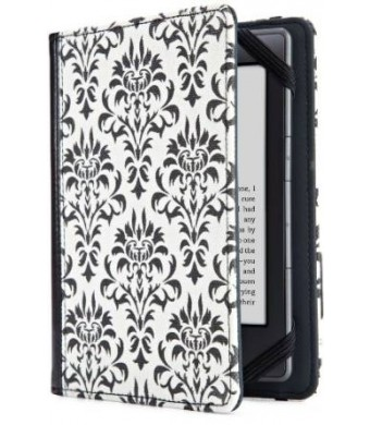 Lightwedge Verso Versailles Cover for Kindle, Black/White (fits Kindle Paperwhite, Kindle, and Kindle Touch)